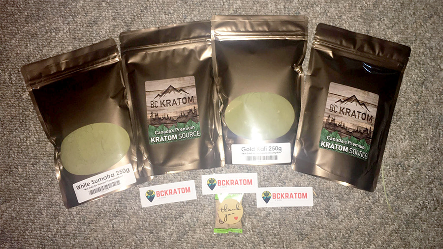 BC kratom packaging